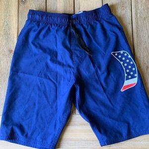 Boys navy Hurley swim trunks